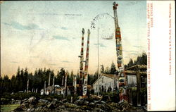 Deserted Indian Village Showing Tribe Totems