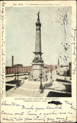 Soldiers' And Sailors' Monument Postcard