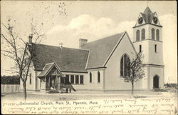 Universalist Church, Main St Postcard