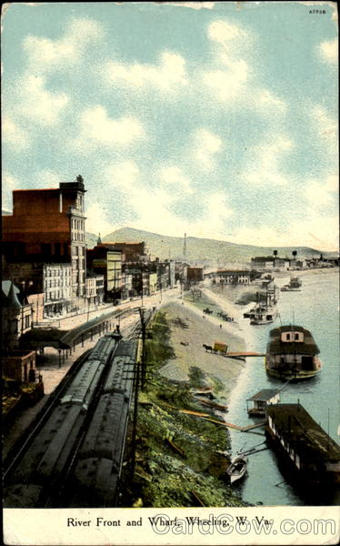 River Front And Whart Wheeling West Virginia