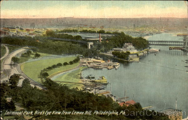 Fairmount Park Bird's Eye View From Lemon Hill Philadelphia Pennsylvania
