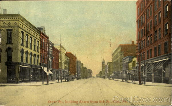 State Street Looking Down, 9th St. Erie Pennsylvania