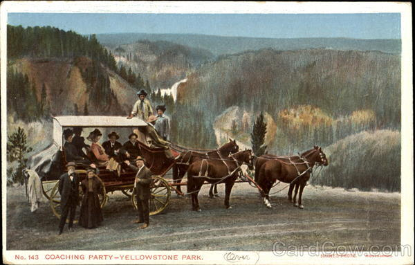 Coaching Party, Yellowstone Park Yellowstone National Park