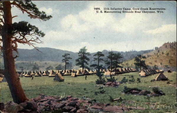 11th Infantry Camp Crown Creek Reservation Cheyenne Wyoming