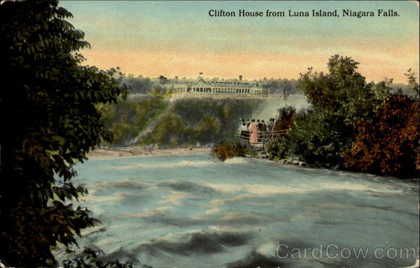 Clifton House From Luna Island Niagara Falls New York