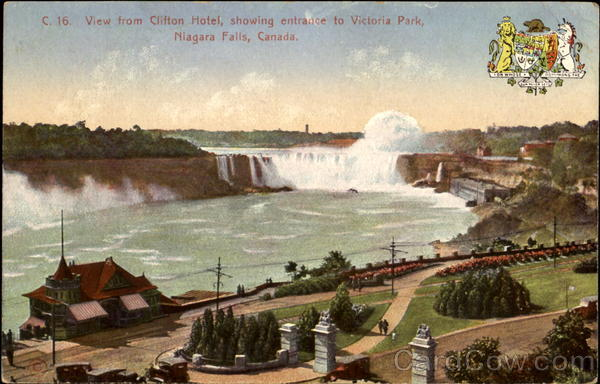 View From Clifton Hotel Niagara Falls New York Canada