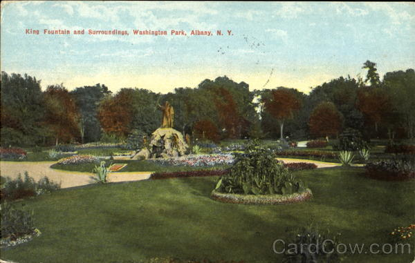 King Fountian And Surrounding, Washington Park Albany New York