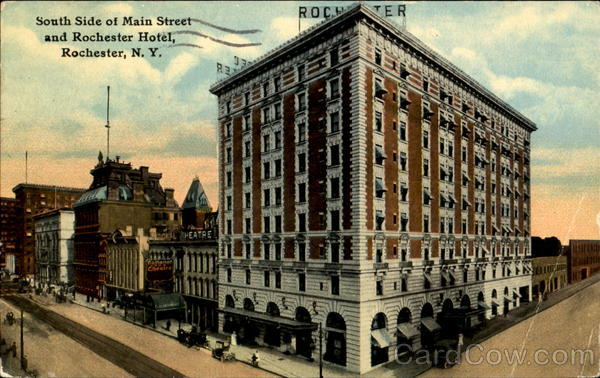 Rochester Hotel, South Side of Main Street New York