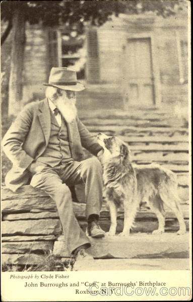 John Burroughs And Cuff At Burroughs Birthplace Roxbury New York