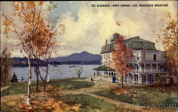 Theangonquin Lower Saranac Lake Adrondack Mountians New York