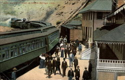 Arrival Of Train At Shasta Springs