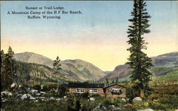 Sunset At Trail Lodge Postcard