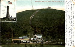 The Incline Railway, Mt. Beacon Postcard
