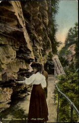 Ausable Chasm Post Office Postcard