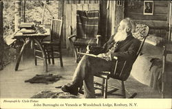 John Burroughs On Veranda At Woodchuck Lodge
