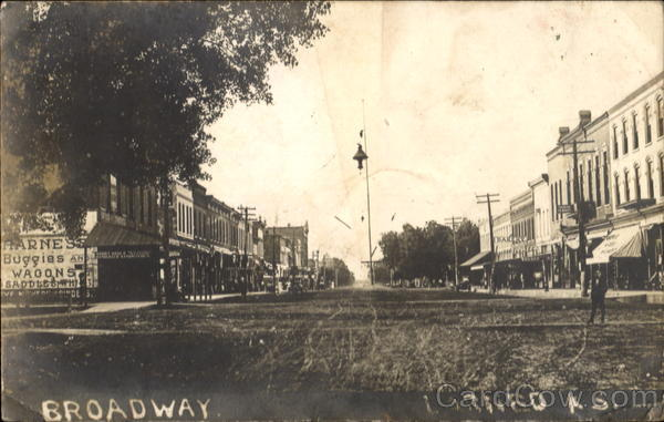 Broadway Street Scene Larned Kansas