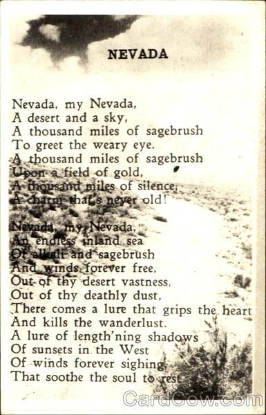 nevada poem poems  u0026 poets