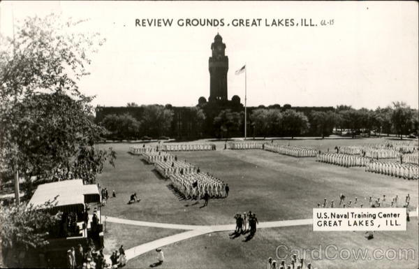 Review Grounds, U. S. Naval training Center Great Lakes Illinois