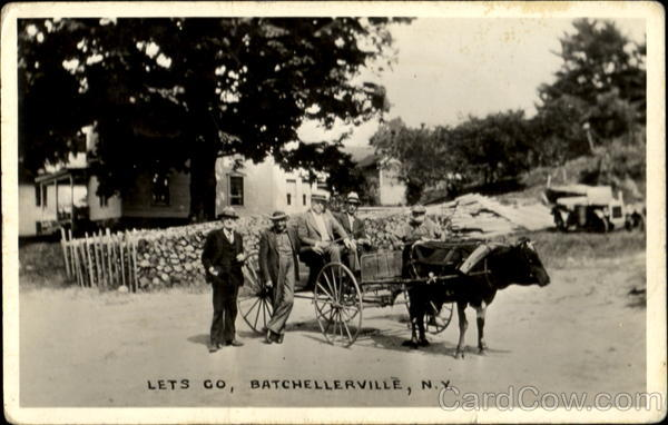 Men with Ox Cart Batchellerville New York