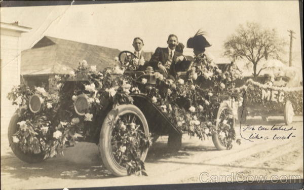 1907 Tournement of Roses Car, Float Pasadena California