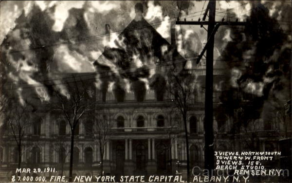 1911 New York State Capitol Fire Albany Disasters