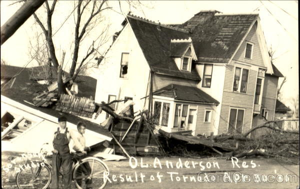 O. L. Anderson Residence after Tornado Estherville Iowa