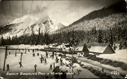 Summit Snoqualmie Pass In Winter