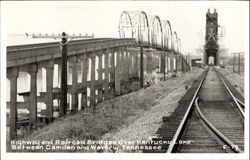Highway And Railroad Bridges Over Kentucky Lake