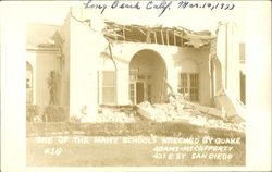 One Of The Many Schools Wrecked By Quake, 427 E. St