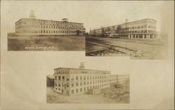 H. E. H. Factory Multi View Postcard
