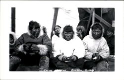Eskimos Eating Postcard