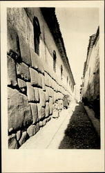 Street Scene With The Inca Rocca Palace