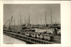 Ships And Piers In The Harbor