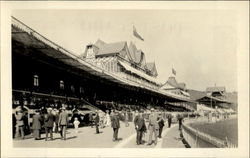 The Grand Stand At The Race Track