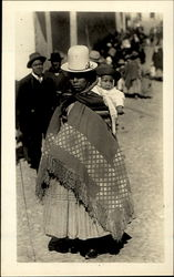 Aymara Indian Mother And Child Postcard