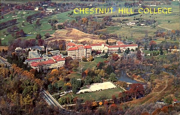 Aerial View Of Showing Chestnut Hill College Philadelphia Pennsylvania