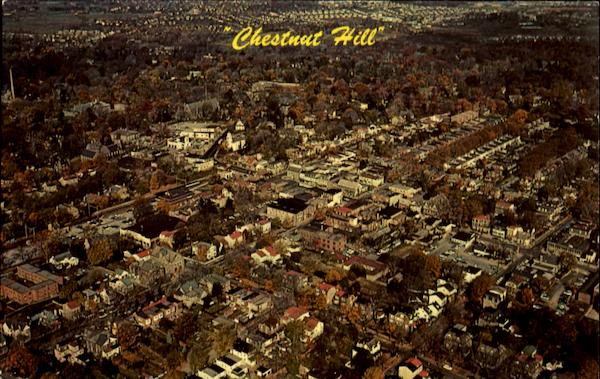 Aerial View Of Chestnut Hill Philadelphia Pennsylvania