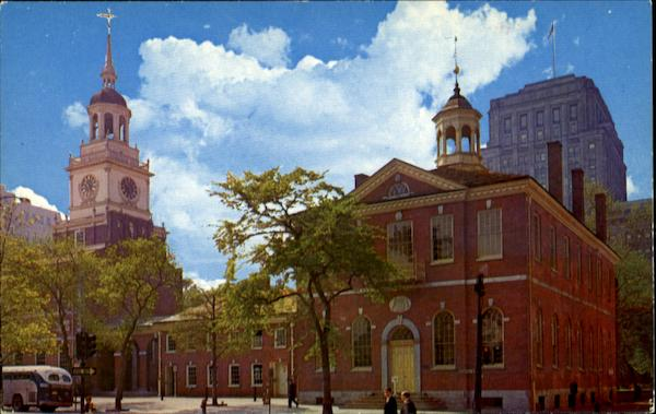 Congress Hall, 6th & Chestnut Streets adjoining Independence Hall Philadelphia Pennsylvania