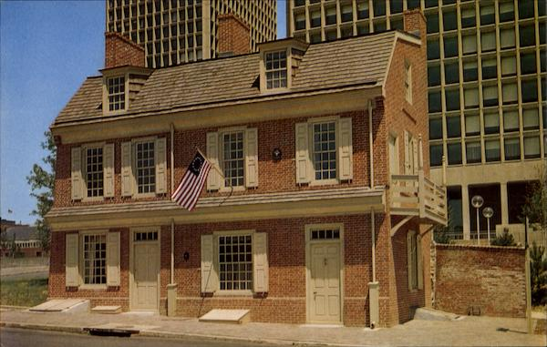 A Man Full Of Trouble Tavern And Paschall House And Paschall House, 127-129 Spruce St Philadelphia Pennsylvania