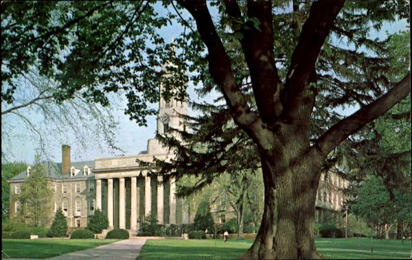 Spring View Of Old Main, The Pennsylvania State University