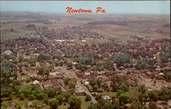 Aerial View Of Newtown Pennsylvania