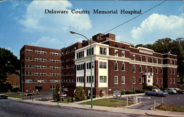 Delaware County Memorial Hospital, Lansdowne And Keystone Avenues Drexel Hill Pennsylvania