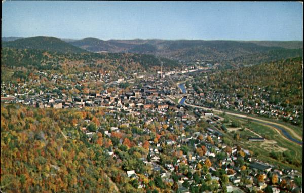 Aerial View Of Bradford Pennsylvania