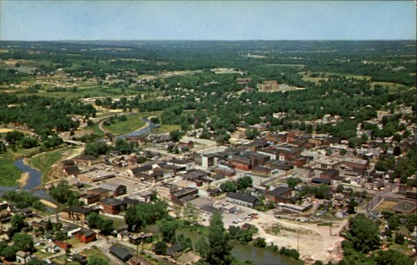 Aerial View Of Greenville, U. S. 322 Pennsylvania