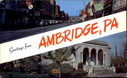 Greetings From Ambridge Postcard