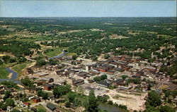 Aerial View Of Greenville, U. S. 322 Postcard