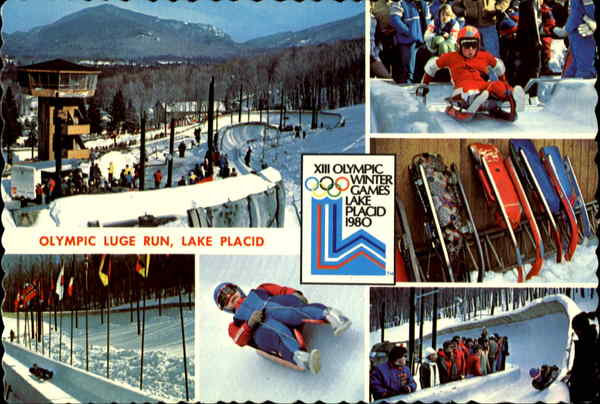 Olympic Luge Run 1980 Lake Placid New York
