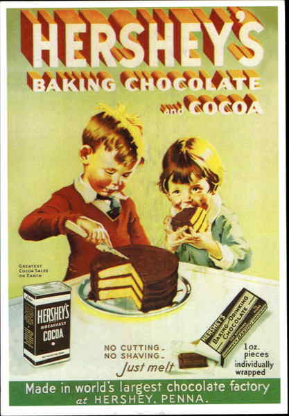 Hershey's Baking Chocolate And Cocoa Advertising