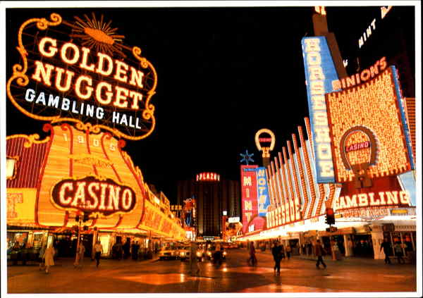 Downtown Fremont Street Casino Center Las Vegas Nevada