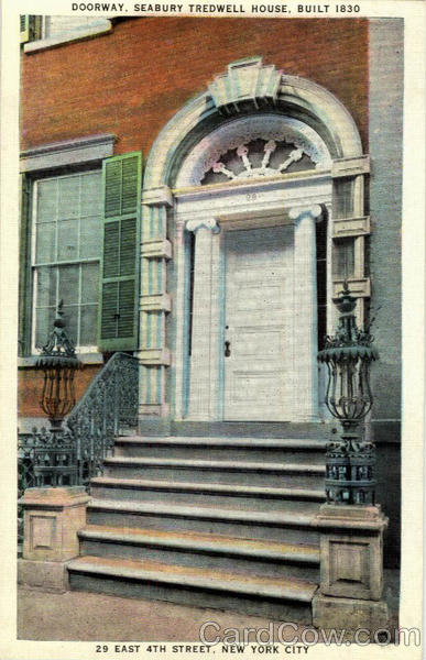 Doorway, Seabury Tredwell House, Built 1830 New York City